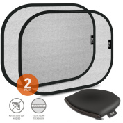 Sun Shade, BEZ® Car Sun Shade for Side and Rear Window (2 Pack) - Car Sunshade Protector - Protect your kids and pets in the back seat from sun glare and heat. Blocks over 97% of harmful UV Rays - Easy to Instal