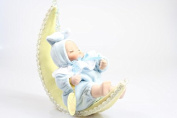 Hanging Musical Ceramic Sleepy Baby Boy On Moon