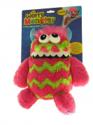 Worry Away Monster 23cm Plush Kids Children Soft Toy Animal Gift Bag Pink-Green