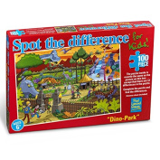 Dinosaur Park - Spot The Difference 100pc Jigsaw