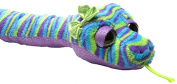 Sweet and Sassy Purple Blue Snake Plush Diary In Cuddly Toy Approx. 54 CM