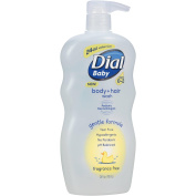 Dial Baby Body and Hair Wash, Ages 0-2, No Parabens, Fragrance Free