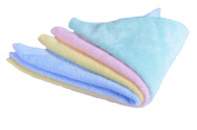 CaLeQi Pack of 4 mixed colour-Soft Bamboo Face Towels , 30cm x 30 cm