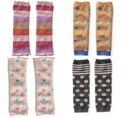 Kids Winter Cotton Thicken Warm Socks Sweet Baby Leggings/Leggies/Leg Warmers for Cloth Nappies Colour Mixed Random