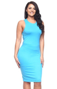 2LUV Plus Women's Solid Colour Above The Knee Racer-back Tank Dress