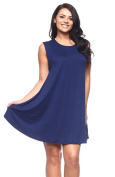 2LUV Plus Women's Sleeveless Solid Colour Above The Knee Trapeze Dress