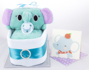 CUTE nappy NAPPY CAKE SAFARI CRIB BASSINET BABY BOY GIRL UNISEX BABY SHOWER