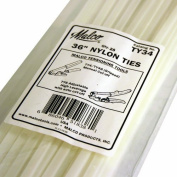 Malco TY34 25 Quantity Pack Nylon Ties 90cm for Flex Duct Installations by Malco