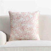 Pillow Embroidery Flower Pink Pillowcases With Core Back Cushion Simulation Cushions Sofa Cushions