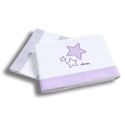 Alondra 616 - 075 - Sheets minicuna Baby, 3 Pieces, Purple