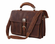 Jsix Mens Genuine Leather Handbags Briefcases Shoulder Bag Vintage