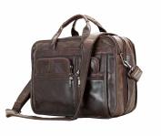 Jsix Mens Genuine Leather Handbags Briefcases Laptop Shoulder Bag