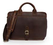 Jsix Mens Genuine Leather Handbags Briefcases Shoulder Bag Vintage