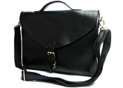 Jsix Mens Genuine Leather Handbags Shoulder Bag Black