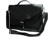 Jsix Mens Genuine Leather Handbags Shoulder Bag Black