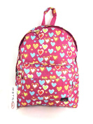 METRO GIRLS LADIES LOVE HEARTS SCHOOL COLLEGE TRAVEL BACKPACK RUCKSACK BAG NEW PINK