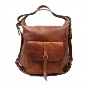 Genuine leather Woman's Backpack - Shoulder bag 2in1 Handmade. Model