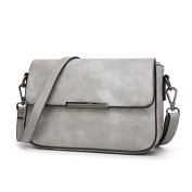 Small Square Package Simple Shoulder Messenger Bag Scrub Leather Handbags