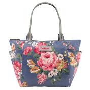 CATH KIDSTON New Autumn 2016 Mid Blue Norfolk Rose Side Pocket Handbag