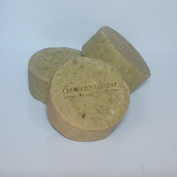 3 x Olive Oil and Laurel (50%) Soap Bars Hand-milled round Traditional Turkish Natural Castile