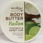 SIX PACKS of Derma V10 Fusion Coconut & Sweet Lime Body Butter 220ml