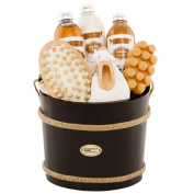 BRUBAKER Cosmetics Wooden Pail Spa Bath Gift Set 'Coconut'