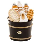 BRUBAKER Cosmetics Wooden Pail Spa Bath Gift Set 'Coconut'