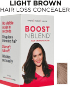 BOOSTnBLEND Light Brown Hair Loss Scalp Concealer for Women with thinning hair. Cover up Visible Scalp with the BEST female hair fall treatment 22g