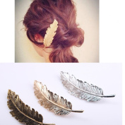 3 pcs Feather / Leaf Shaped Hair Clip Pin Claw Hair Accessories