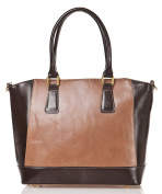 azzesso Women's Shoulder Bag Brown Mocca Milchkaffee