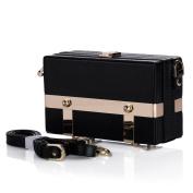Black White Women's Clutch Bag Satchel Handbag Strap Shoulder Bag ZG239