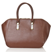 azzesso Women's Top-Handle Bag Brown BROWN