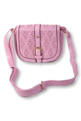 Women's Shoulder Bag - PINK BAG WITH SHOULDER STRAP