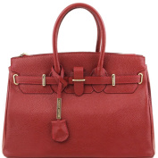 Tuscany Leather - TL Bag - Leather handbag with golden hardware - TL141529