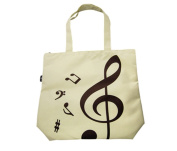 PartyErasers Music Themed Beige Tote Bag