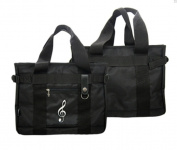 PartyErasers Music Themed Black Treble Clef Brief case work bag