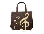PartyErasers Music Themed Brown Tote Bag
