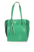 Laura Moretti - Handbag with bent top corners and bow detail