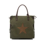 OBC Only-Beautiful-Couture Women's Tote Bag Green Grün-Braun 45x40x15 cm