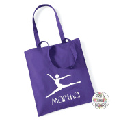 Ballet Dancer/Ballerina & Name 100% Cotton Tote Bag Gift Present Dancing Birthday Christmas