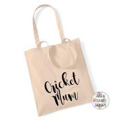 CRICKET MUM 100% Cotton Tote Bag Gift Bag Christmas Xmas Present Keepsake