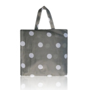 Womens Ladies Polka Dots Print Nylon Tote Handbag Shopper Bag Summer Beach Bag