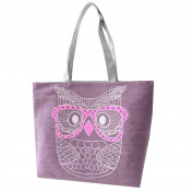 JJ Store Womens Canvas Owl Tote Shoulder Bag Shopping Tote Handbag