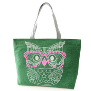 JJ Store Womens Canvas Owl Tote Shoulder Bag Shopping Tote Handbag
