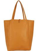 Handbag Bliss Soft Italian Leather Light Weight Shopper Style Tote Handbag