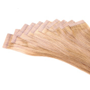 Just Beautiful Hair and Cosmetics 10 x 2.5 g Remy Tape-In / Tape-On Skin Weft Hair Extensions 45 cm
