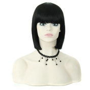 Tonake Short Black Bob Wig Hair Heat Resistant Hair for Women