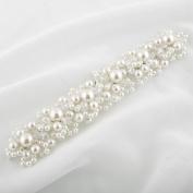 Abeillo Wedding Bridal Pearl Crystal Tiara headband Charming Crown Rhinestone Headpieces White