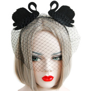 Da.Wa Fashion Halloween Dance Party Christmas Party Handmade Swan Net Yarn Headdress Headband