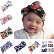 Baby Newest Turban Bohemian Head Wrap Knotted Hair Band Headband pack of 6